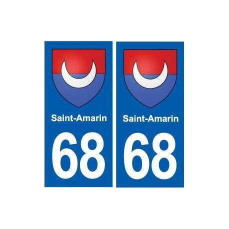 68 Saint-Amarin blason autocollant plaque stickers ville arrondis