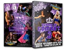 Queens of Combat 3 DVD, Female Womens Wrestling Divas Knockouts WWE TNA WSU CZW