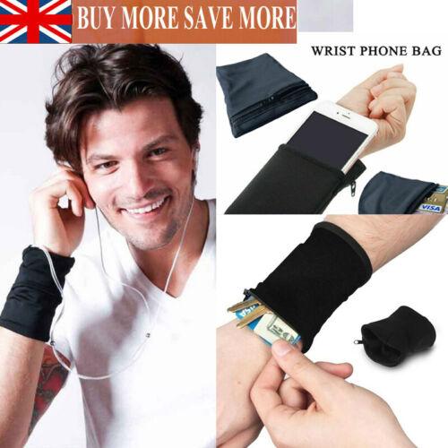 Portable Wrist Wallet Pouch Band Zipper Running Sweatband Safe Sport Money Bag