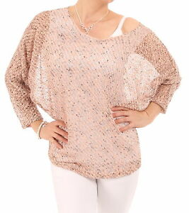 New Marl Crochet Style Batwing Top eBay