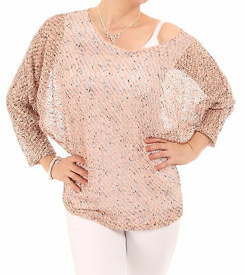 New Marl Crochet Style Batwing Top