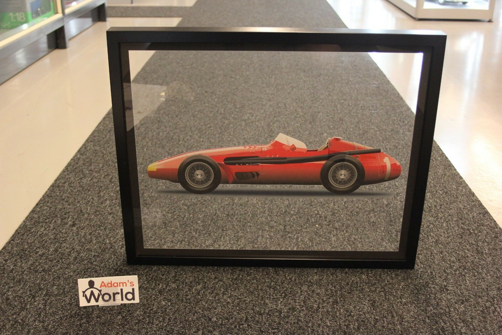 Halmo framed print on plexiglass, Maserati 250F (50 x 40 cm)   99 pcs