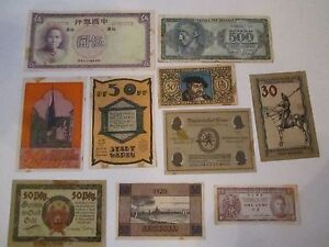 COLLECTION-OF-10-OLD-CURRENCY-NOTES-WORLD-WIDE-NICE