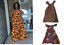 Women Female African dresses Clothing outfit Dashiki Gown Handmade Kaftan Ankara