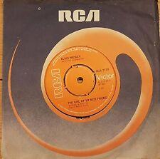"""Elvis Presley The Girl Of My Best Friend  7"""" Vinyl Record"""