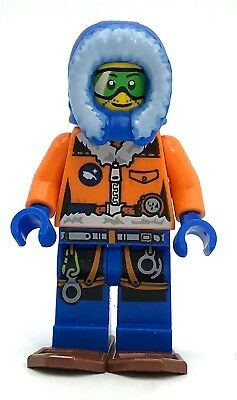 Lego New Arctic Explorer Male with Green Goggles and Snowshoes Figure