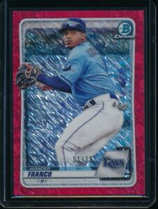 WANDER FRANCO 2020 Bowman Chrome Prospects RED SHIMMER REFRACTOR #/10 Rookie RC