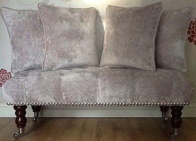 2 X 16 Inch Cushions And Inners In Laura Ashley Villandry Amethyst Fabric