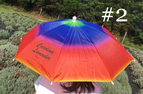 Carolina Lavender Umbrella Hat Outdoor in Sun /& Rain Foldable Headwear