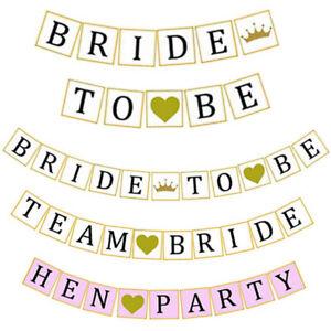 3-DESIGNS-TEAM-BRIDE-TO-BE-HEN-PARTY-BANNER-BUNTING-GARLAND-DECORATION-WEDDING