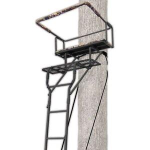 15 39 two man ladderstand tree stand big game seat hunting deer treestand steel ebay. Black Bedroom Furniture Sets. Home Design Ideas