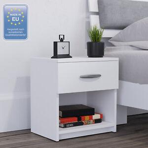 VICCO Nachtschrank Nachttisch Kommode Schrank Schlafzimmer Schublade Ablage Weiß