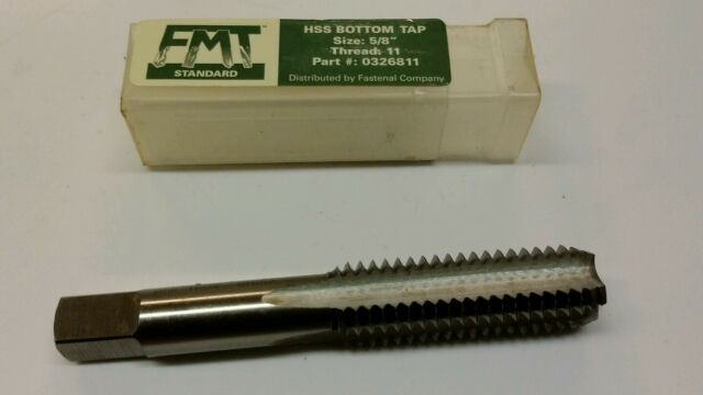 """5//8/""""-24 GH3 HIGH SPEED STEEL  6 FLUTE PLUG TAP MADE IN USA"""