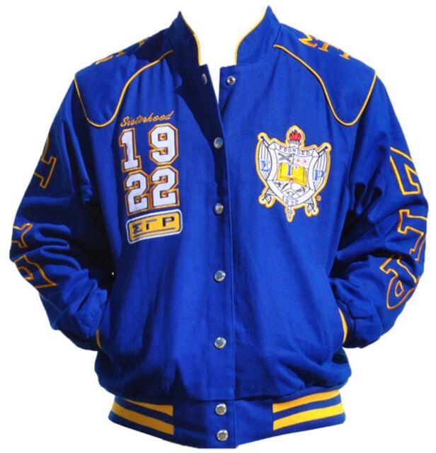 Sigma Gamma Rho Sorority Womens Twill Jacket Blue | eBay