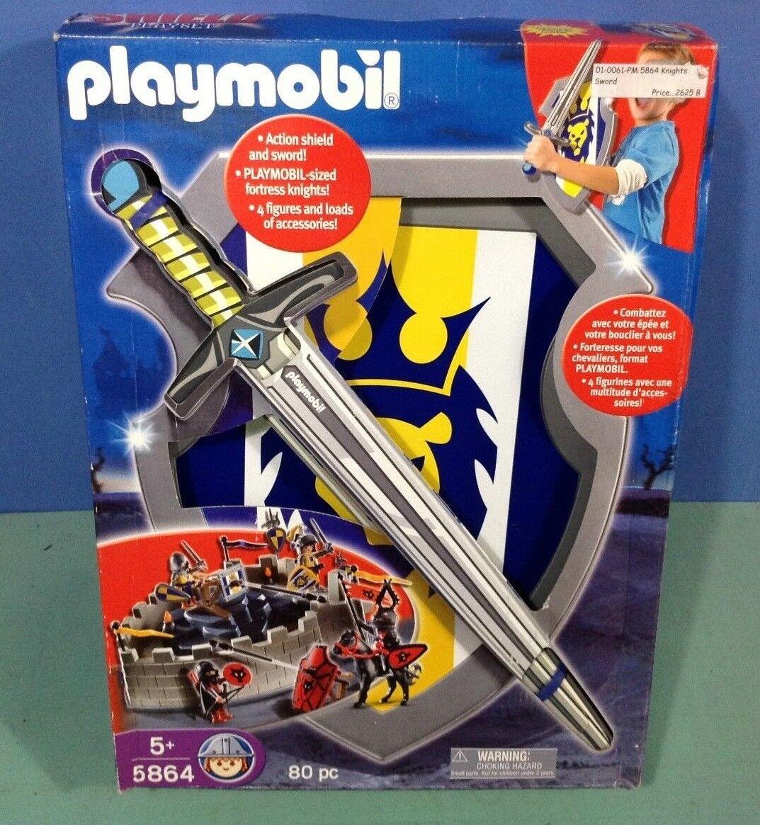 (N5864) playmobil Gros set chevalier avec bouclier épée ref 5864  en boite neuve  popolare