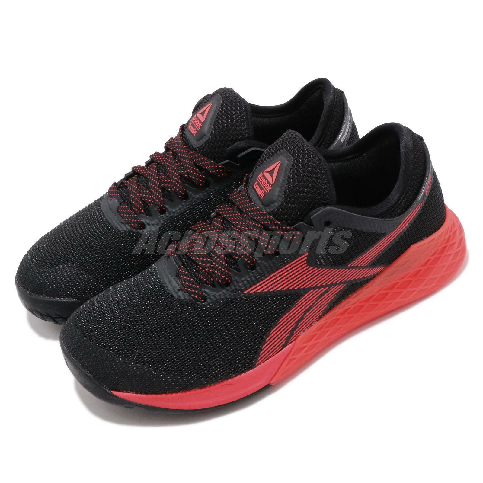 Reebok Nano 9 Noir Rouge Hommes Crossfit Cross Training paniers Chaussures FU6828