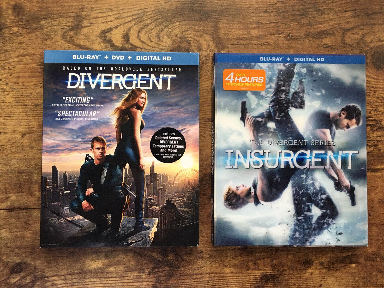 The Divergent Series Insurgent 2015 Insurgent 2014 Blu Rays Lot Of 2 Ebay