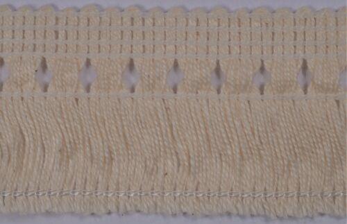36mm light cream tassel fringe cushion tablecloth upholstery edging