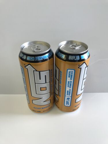 Nos Energy Drink Nitro Mango 16oz Cans Total 2 Full Cans Lot
