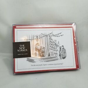 The-New-Yorker-Magazine-Greeting-Cards-8-count-Holiday-Cards-amp-Envelopes