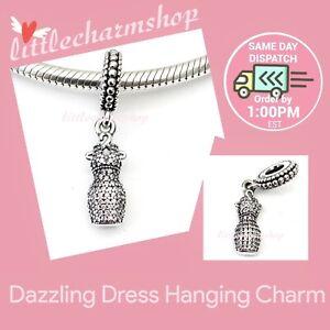 New-Authentic-Genuine-PANDORA-Dazzling-Dress-Hanging-Charm-792062CZ-RETIRED