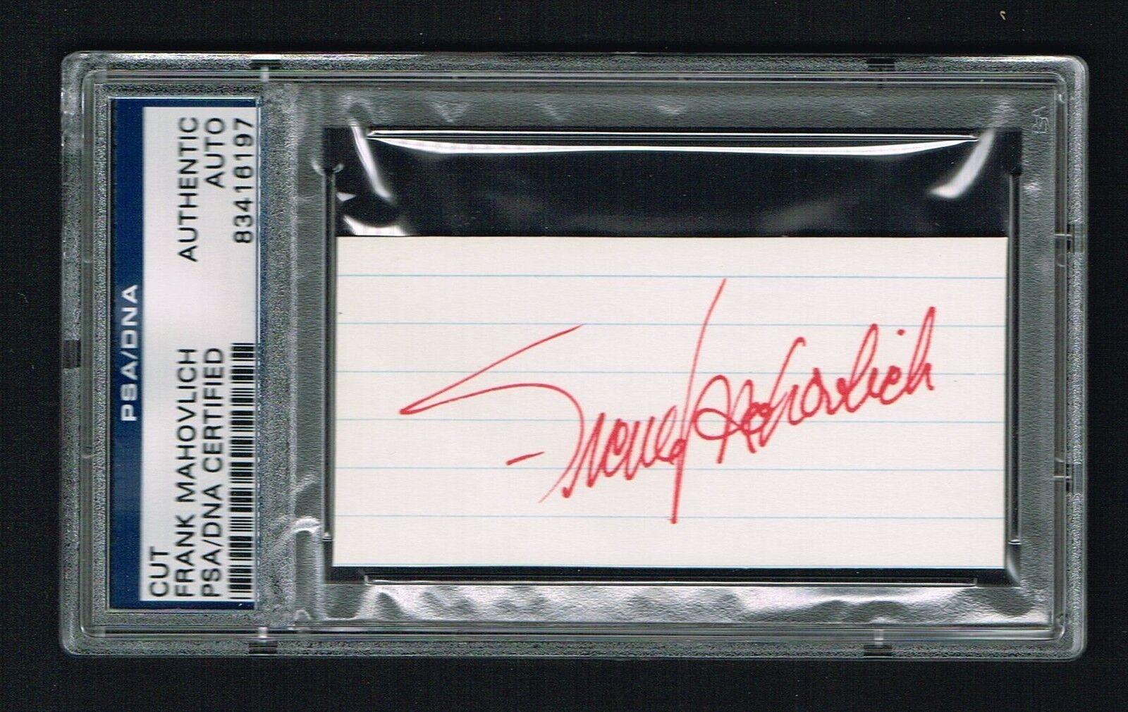 Frank Mahovlich Firmado Firmado Firmado Autógrafo 1.5x3.5 Corte Hockey Hall Of Fame PSA O 4233e8