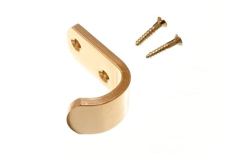 Nuovo Ganci Appendiabiti per Cappello & Cappotto Alluminio Finitura in gold 50mm