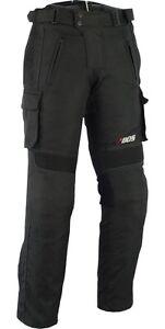 Motorradhose Textil schwarz,Wasserdicht Motorrad Textil Hose, Herren Biker Hose