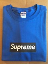 Supreme T-shirt w/ black box logo  Size medium Royal Blue