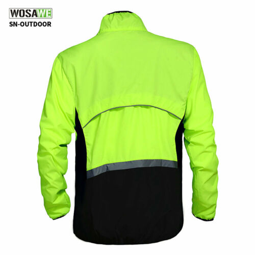 Men/'s Wind Coat Cycling Windproof Jacket Bike Bicycle Green Jersey Riding Sports