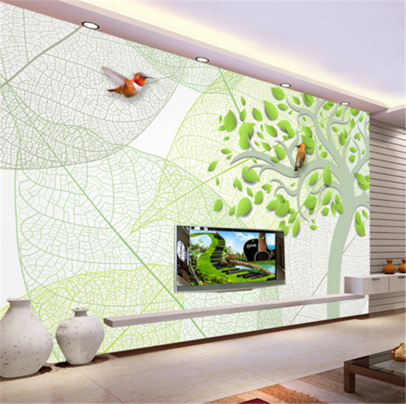 3D Grün Leaf Tree 835 Wallpaper Mural Paper Wall Print Wallpaper Murals UK