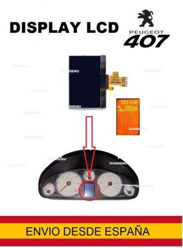 LCD CUADRO INSTRUMENTOS DISPLAY PEUGEOT 407 SW//HDI//COUPÉ TACHO//KOMBIINSTRUMENT