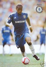 "DIDIER DROGBA ""CONTROLLING FOOTBALL"" POSTER - Chelsea FC Premier League Soccer"