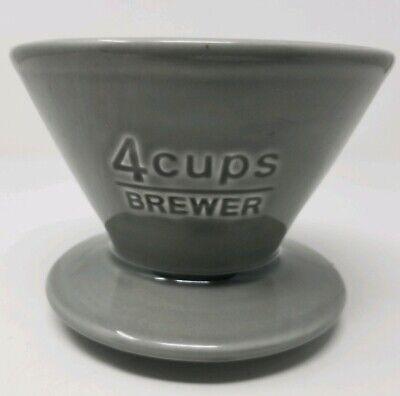 Enthousiast Kinto Coffee Brewer 4 Cups Gray 27631 Porcelain Made In Japan Goedkoopste Prijs Van Onze Site
