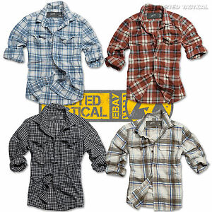 Surplus-Woodcutter-Mens-Casual-Long-Sleeve-Checked-Lumberjack-Shirt-100-Cotton