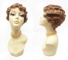 Strawberry Blonde Finger Waves Wig Short Marcel 20s Vintage Gatsby Flapper