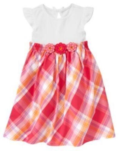 GYMBOREE PRETTY POSIES PINK PLAID FLOWER WAIST DRESS 3 4 5 6 7 8 9 10 NWT