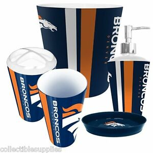 ... NFL Denver Broncos 5 Piece Colorful Resin Bathroom