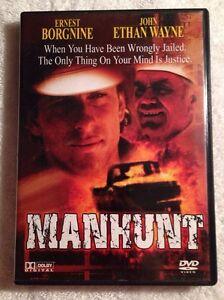 The-Manhunt-Previously-Viewed-DVD-2005-Ernest-Borgnine-John-Ethan-Wayne-RARE