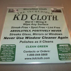 The-Incredible-KD-Cloth-Only-water-No-chimical-NEW