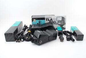 034-NEAR-MINT-in-BOX-034-Contax-TLA-280-Shoe-Mount-Flash-set-From-Japan-38891