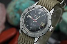 C. 1970 Vintage BULOVA Automatic Waterproof 666ft Stainless Steel Diver's Watch