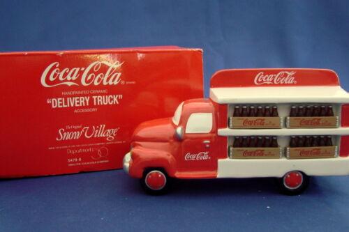 Dept 56 Snow Village Accessory Coca Cola Brand Delivery Truck 54798 Retired 1998