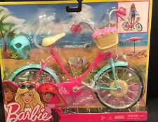 Barbie Doll Bike Bicycle Pink & Teal Works Helmet Basket NOT A CHEAP KNOCK OFF