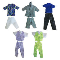 Fashion Handmade Jacket + Pants Trouser Clothes Dress Outfit for Barbie Ken Doll
