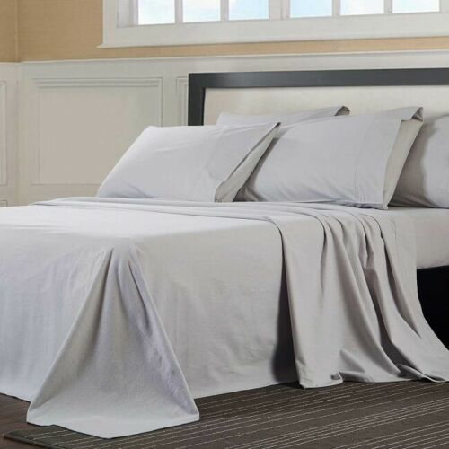 """FLANNELETTE 100/% BRUSHED COTTON 7/' x 7/' 84/"""" x 84/"""" BED FITTED SHEET 14 SIZES"""