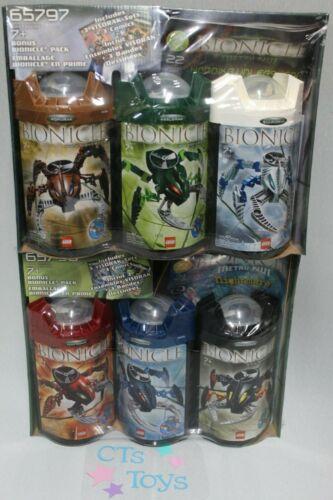65797 Includes 6 Bionics /& 6 Comic Books LEGO Bionicle Bonus Packs 65796