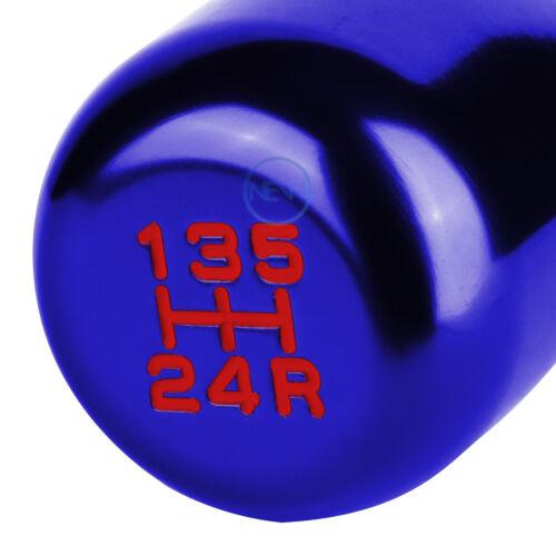 M8//M10//M12 Aluminum Type-R MT//Manual Transmission 5-Speed Gear Shift Knob Blue