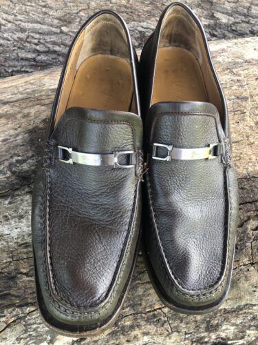 Salvatore Ferragamo Brown Leather Moccasin Size 7.