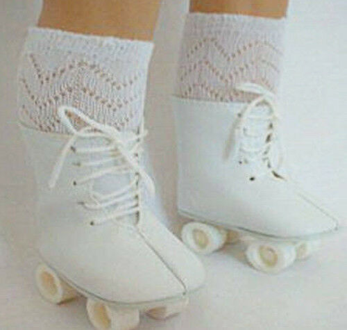 Mary Ellen or Molly White Roller Skates Fits 18 inch American Girl Dolls